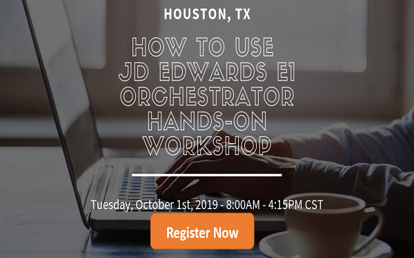 Hands-On JD Edwards Orchestrator Workshop